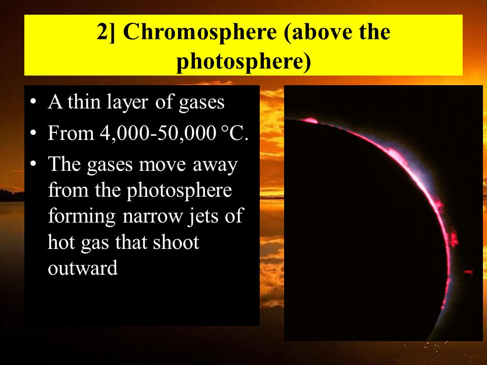 2] Chromosphere (above the photosphere)